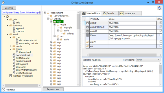 Taoffi's blog | Yet another [rather simple] OpenXML package explorer!